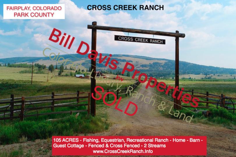 Cross Creek Ranch – Fairplay Colorado – SOLD!